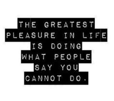 greatest pleasure ...
