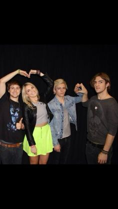 Lol I love how Rydel and Ellington are happy and Ross and Rocky are makin weird faces!!!