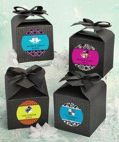 Design Your Own Decorative Boxes - Black Wedding Favors at WeddingFavors.org