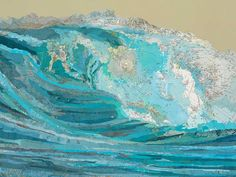 Matthew Cusick Depicts Roaring Movement of Waves Through Map Collages - Kara's Wave