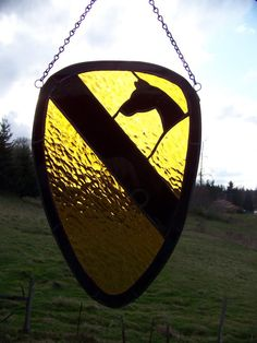 CAV Glass:  Stained glass is always beautiful and I love this 1st CAV patch!