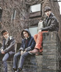 school boys :: Chen, Kai and Lay of #Exo for The Celebrity, January 2015