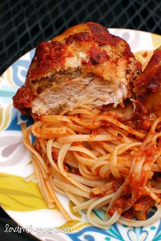 crockpot chicken parm (you have to cook the noodles separately, a bit pointless if you're using the crockpot, but seriously noodles take like 5 minutes)