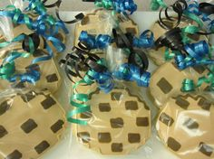 Minecraft soft sugar cookies bagged with ribbon by LittleCakeDiva