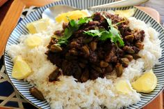sambal okra over coconut rice