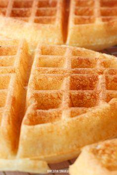 Gofry drożdżowe Pumpkin Waffles, Polish Recipes, Polish Food, Waffle Recipes, No Bake Desserts, Food And Drink, Sweets, Baking, Breakfast