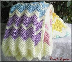 Pastel Rainbow Ripple Afghan pattern by Aleta Lyn.. this pattern would work also if the other one doesn't for some reason.. -->