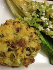 Cornbread Dressing With Sausage and Collard Greens