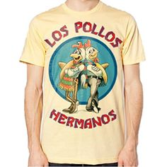 Philcos Mens Breaking Bad Los Pollos Hermanos T-shirt (Yellow) (Large) @ niftywarehouse.com #NiftyWarehouse #BreakingBad #AMC #Show #TV #Shows #Gifts #Merchandise #WalterWhite
