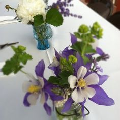 Rocky Mountain Wedding Flowers // Wildflower Centerpieces at the High Country Lodge in Breckenridge, CO | Petal and Bean | Florist and Event...