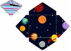 Fábrica de Sonhos: Caixinhas Astronauta - 1 Paper Tray, Space Party, Sons Birthday, Sistema Solar, Outer Space, Diy And Crafts, Playing Cards, Banner, Education
