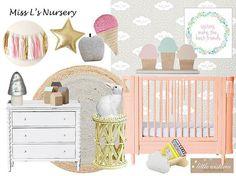 Girl's Room Moodboard Design - Little Wisteria Interiors, Interior Designer for Children