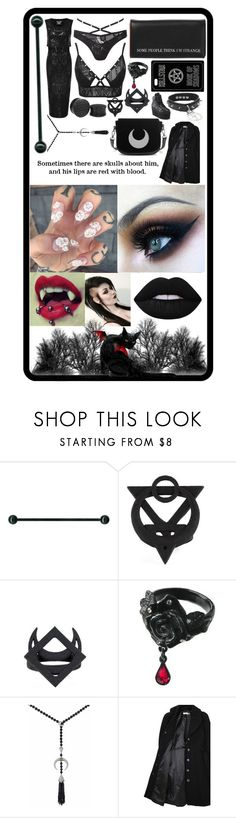 """Our hearts start to bleed as our eyes they become wells"" by xqueenofthedeadx ❤ liked on Polyvore featuring Killstar, Shaun Leane, Hope x Nina Persson and Lime Crime"
