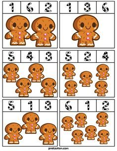 Gingerbread Man Counting Clip Cards - Activities For Toddlers With Autism
