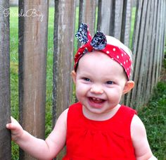Baby Toddler Pre-tied Headscarf Rockabilly Retro Knotted Headscarf by PICKLEBUG