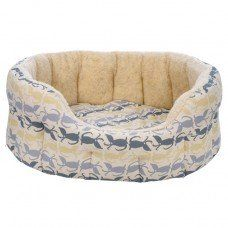 Hector Dog Bed in Rufus Fabric made by Poppy and Rufus Ltd in -
