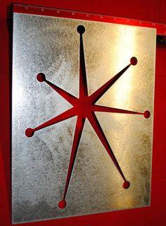 Atomic Starburst Metal Stencil Large 13 x 10 by AtomicEraKimmy, $25.00