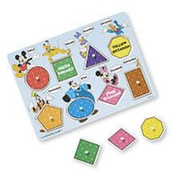 Melissa & Doug Disney Peg Puzzle - Mickey Mouse Clubhouse Shapes and Colors