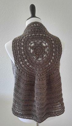 Ravelry: The Bodhi Boho Vest pattern by Taylor Wittke Knit Vest, Crochet Jacket, Crochet Vests, Knit Or Crochet, Crochet Clothes, Crochet Stitches, Crochet Sweaters, Crochet Things, Crochet Tops