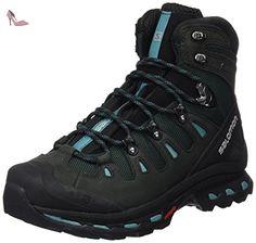Salomon Quest 4d 2 Gtx W, Chaussures d'Escalade Femme, Multicolore (Asphalt/Green Black/Haze Blue), 40 EU - Chaussures salomon (*Partner-Link)