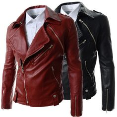 Trendy Men Biker Zip Fashion Leather Jacket | Sneak Outfitters