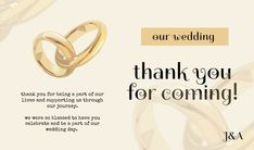 Customize this design with your video, photos and text. Easy to use online tools with thousands of stock photos, clipart and effects. Free downloads, great for printing and sharing online. Tag. Tags: card, thank you, thank you for coming, wedding, Summer, Wedding , Wedding