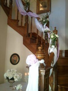 staircase at hawk point wedding venue Wedding Events, Wedding Day, Weddings, Wedding Staircase, Stairs, Victorian, Lavender, Home Decor, Box