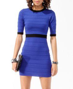 3/4 Sleeve Bandage Dress (Royal/Black). Forever 21. $24.80