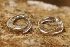 Artisan Thick Small Jump Ring Links in Sterling Silver, AD167