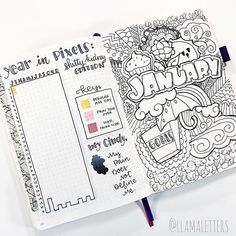 Oh wow!!! This #hellojanuary is superb! And I'm very sorry @llamaletters needs to keep a pain tracker, but it's beautiful too! You have to check out @llamaletters account. She has tons of fun ideas! ・・・ Be sure to check the link in my bio to get my super