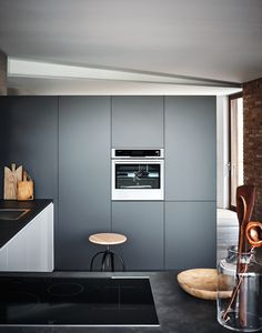 Lacquered fitted kitchen with peninsula MAXIMA 2.2 - COMPOSITION 6 - @cesarkitchen