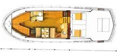 1970 38' Chris Craft Commander Express floor plan