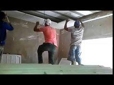Como Fazer Um Forro de Drywall Passo a Passo - Curso de Gesso - YouTube