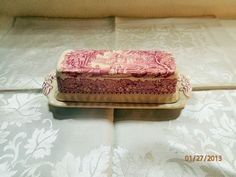 Masons Vista Covered Butter Dish. I will add one of these to my collection one of these days.
