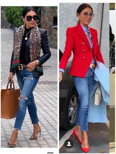 Blazer Outfits, Hot Outfits, Classic Outfits, Stylish Outfits, Fashion Outfits, Mature Fashion, Look Fashion, Trendy Fashion, Womens Fashion
