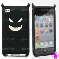 DEVIL MONSTER SILICONE GEL CASE COVER SLEEVE FOR APPLE IPOD TOUCH 4TH GENERATION