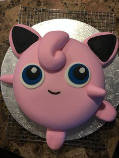 Jigglypuff Pokémon Birthday cake I made for my daughter's Birthday party!