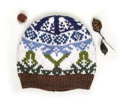 Selbu Bunny Knitting Hat Pattern PDF | Fair Isle Knit Hat Pattern | Aran Yarn Beanie Pattern Etsy Shop Names, My Etsy Shop, Aran Weight Yarn, Bunny Hat, Unique Bags, Beanie Pattern, Fair Isle Knitting, Knitting Designs, As You Like