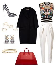 Pop of color by k-michael on Polyvore featuring polyvore, fashion, style, Givenchy, Marni, Delpozo, Casadei, Nadri, MANGO and clothing