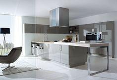 Truffle brown high gloss Schuller Designer Kitchen 2