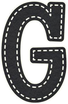 Gifs y Fondos PazenlaTormenta: LETRAS MAYÚSCULAS NEGRAS PARA IMPRIMIR Bubble Letter D, Transportation Party, Teaching The Alphabet, Alphabet Activities, Toddler Activities, Car Themed Parties, Circus Theme, Alphabet And Numbers, Stencils