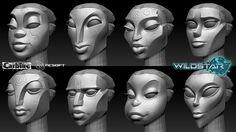 ArtStation - Granok Female Faces, Roger Eberhart