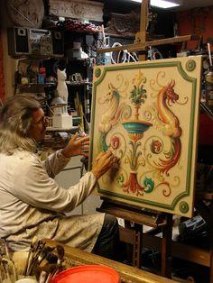Mario Bresciani - Marbre art: Pannello decorativo.