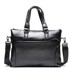 b23ba8e2469e Businessmen fashion solid color square shape pu leather briefcase  mens   attache  briefcase