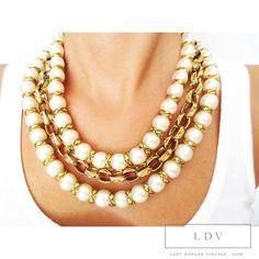 Vintage CHANEL BAROQUE Multi Strand Pearl www.LadyDangerVintage.com   #chanelbaroque #chanel #chanel _jewelry #chanel_necklace #rare_chanel_necklace #vintage_chanel #chanel_pearl_necklace #chanel_vintage_jewelry