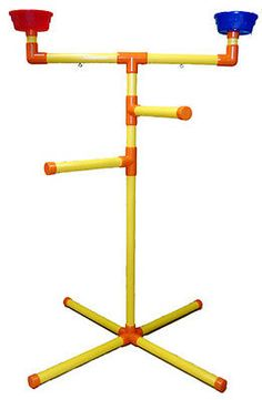 Homemade bird perch I would love to make. Parrot Perch, Parrot Bird, Bird Perch, Cockatoo Toys, Parakeet Toys, Pet Bird Cage, Rat Cage, Conure Cage, Bird Play Gym