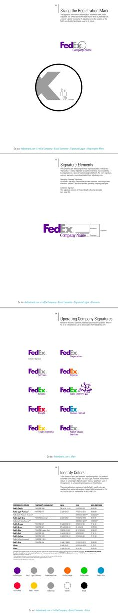 FedEx Brand Identity Quick Reference Guide by Graham Smith.