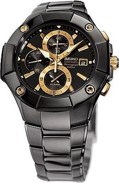 Seiko Men's Coutura Alarm Chronograph Watch SNAC75 - Discount Watch Store