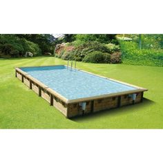 Piscina In Legno Northwood 800 - X M - Liner Blue - 7504771 - Giardino e piscine Diy In Ground Pool, In Ground Pools, Outdoor Baths, Outdoor Fun, Outdoor Decor, Backyard Pool Designs, Small Backyard Landscaping, Liner Gris, Pond Construction