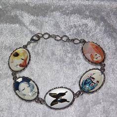 Bracelet   Retro Mixed Cabochon  FREE UK P&P  by KasumiCrafts